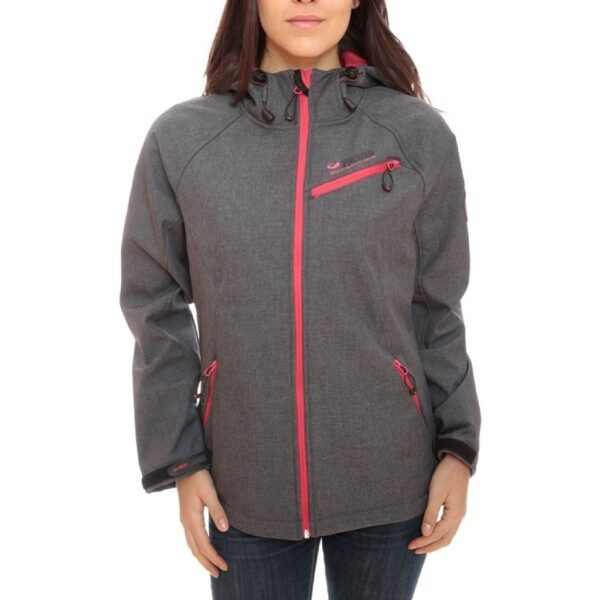 GEOGRAPHICAL NORWAY Softshell jakke Dame TWISTER - Grey/Pink