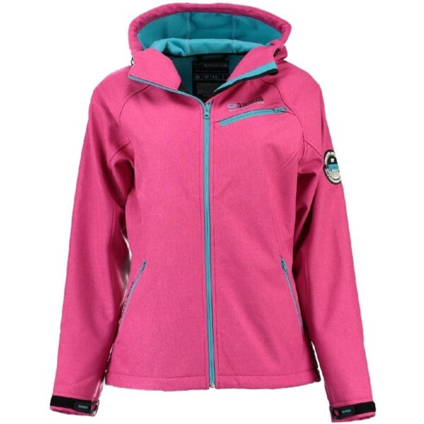 GEOGRAPHICAL NORWAY Softshell jakke Dame TWISTER - pink/Turquoise