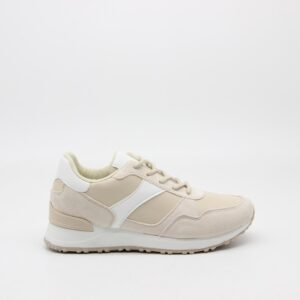 Ideal shoes dame sneakers 6105 - Beige