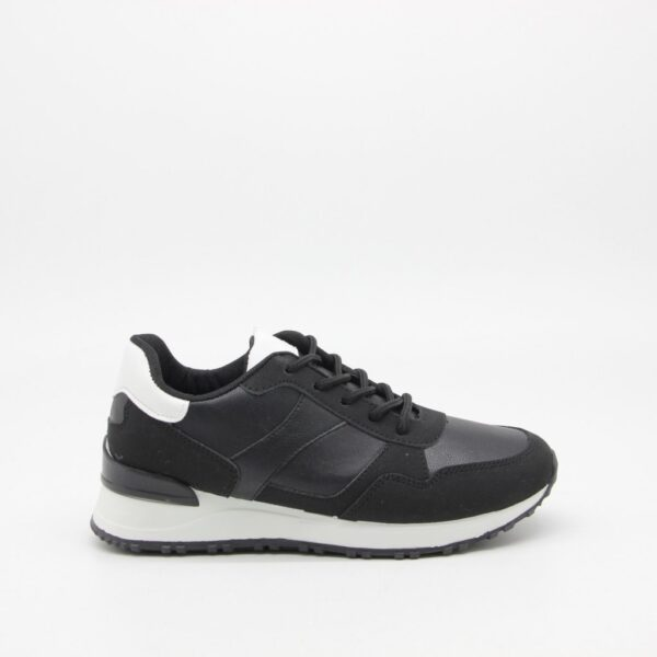 Ideal shoes dame sneakers 6105 - Black
