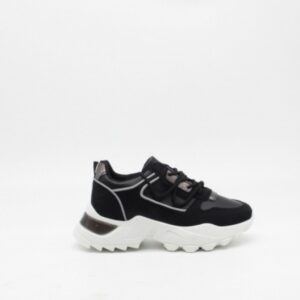 Ideal shoes dame sneakers 8110 - Black