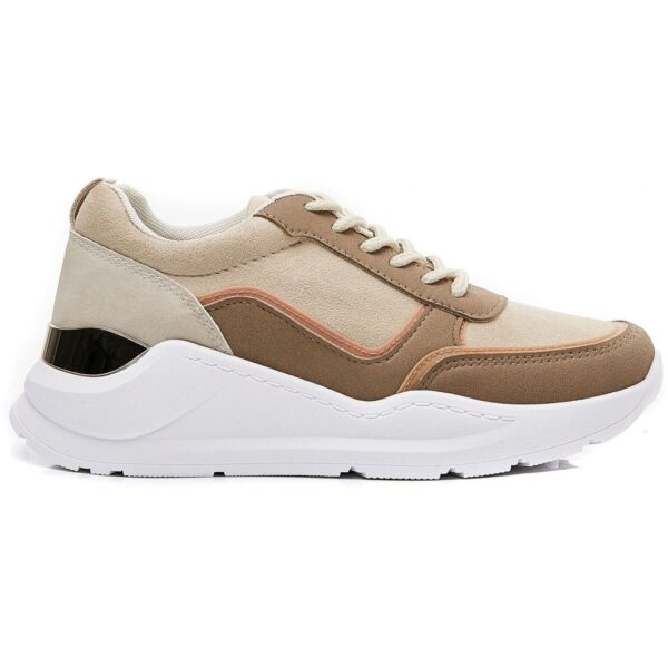 Ideal shoes dame sneakers 9912 - Camel