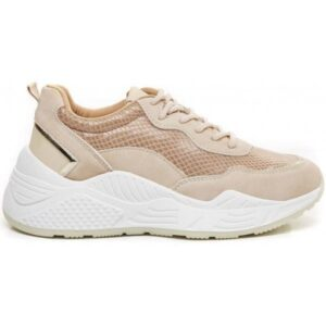Ideal shoes dame sneakers 9920 - Beige