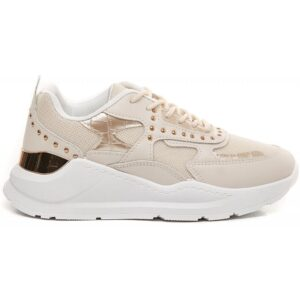 Ideal shoes dame sneakers 9929 - Beige