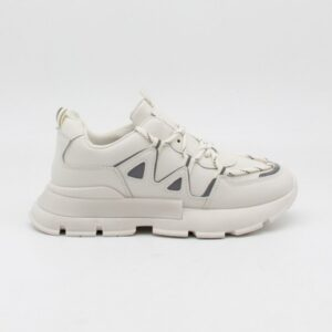 Ideal shoes dame sneakers 9932 - Beige