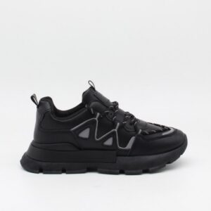 Ideal shoes dame sneakers 9932 - Black