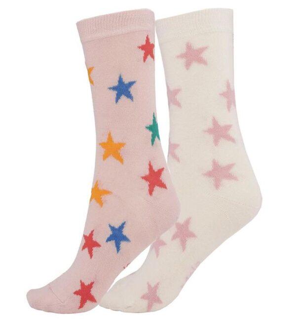 Molo Strømper - 2-pak - Nesi - Rainbow Stars