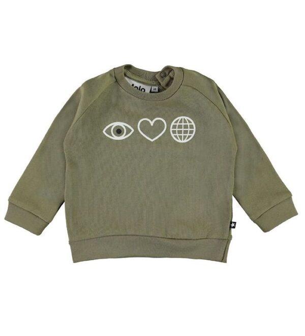 Molo Sweatshirt - Disco - Khaki Green