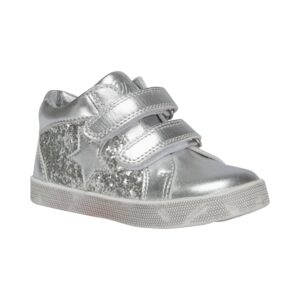 Petit by Sofie Schnoor - Baby Glitter Sneakers m. velcro - Silver