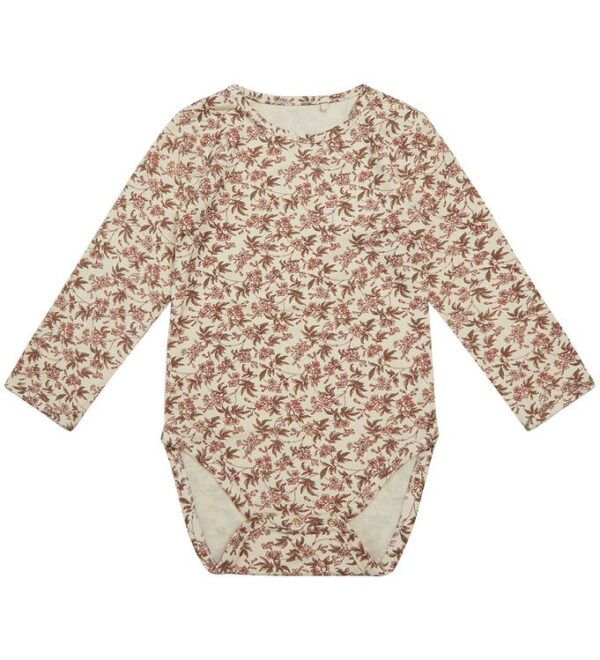 Petit by Sofie Schnoor Body l/æ - Dicte - Creme m. Blomster