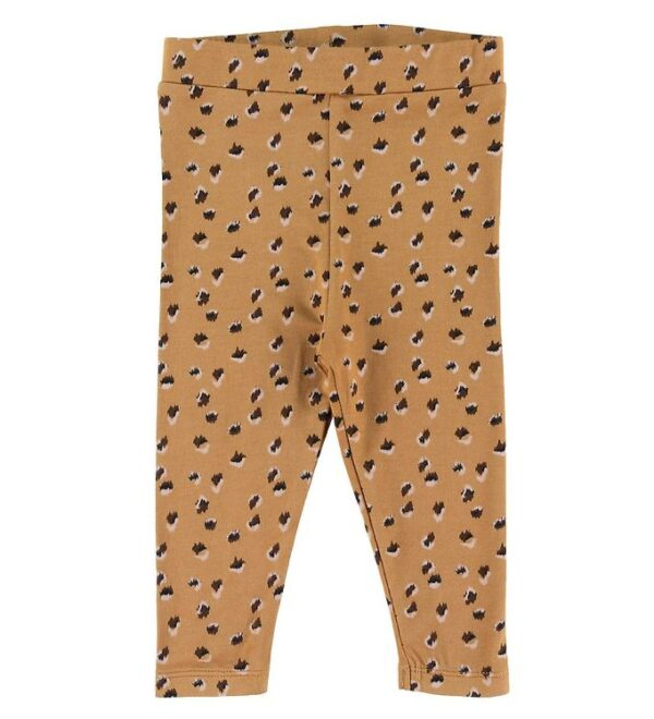 Petit by Sofie Schnoor Leggings - Lily - Gul Leopard