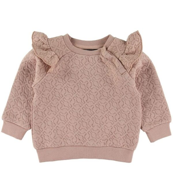 Petit by Sofie Schnoor Sweatshirt - Trille - Light Rose m. Glimm