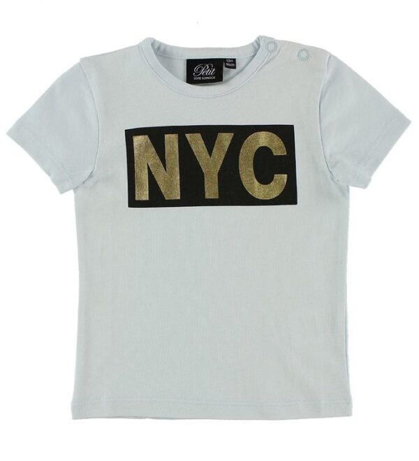 Petit by Sofie Schnoor T-shirt - Lyseblå m. NYC
