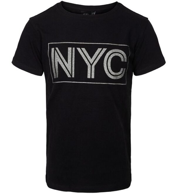 Petit by Sofie Schnoor T-shirt - NYC - Sort m. NYC/Glimmer