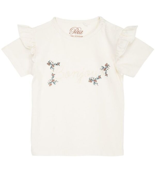 Petit by Sofie Schnoor T-shirt - Penelope - Off White m. Blomste
