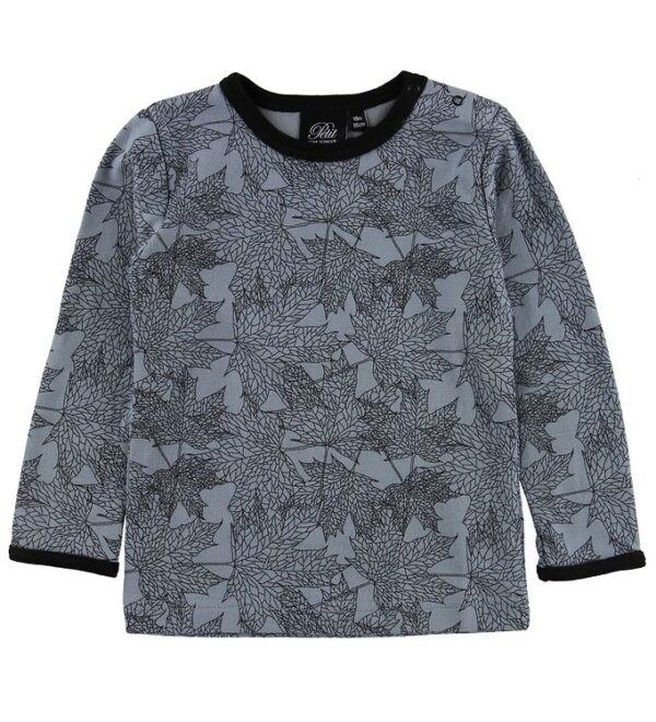 Petit by Sofie Schnoor T-shirt - Uld/Bomuld - Blå m. Blade