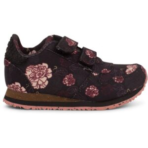 Woden Wonder - Sneakers, Mira Canvas Kids - Black / Flower