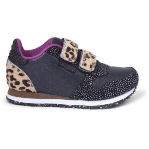 Woden Wonder - Sneakers, Mischa Kids - Brown Leo Mix