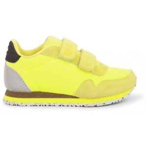 Woden Wonder - Sneakers, Nor Suede Kids - Neon Yellow