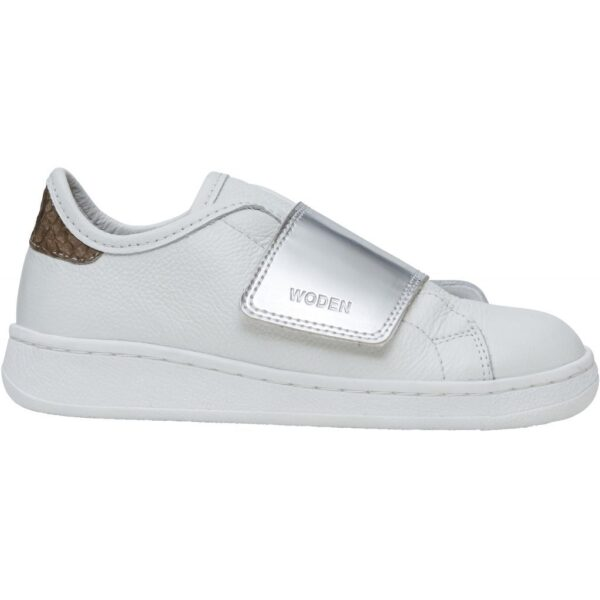 Woden Wonder - Sneakers, Wrap Wonder Metallic Kids - Bright White / Silver